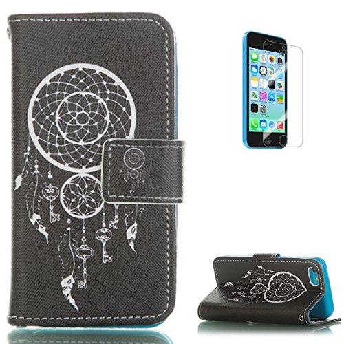 iphone-5c-fundacon-gratis-pantalla-protectorkasehome-funda-carcasa-elegante-colorido-patron-impresio