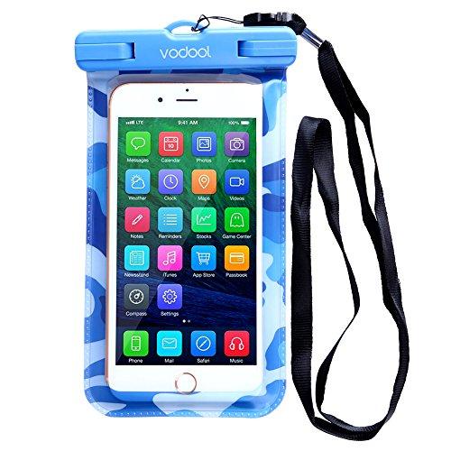 prettygood7 VODOOL Universal Wasserdichte Tasche für Handy (blau)