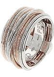 Pesavento Damen-Ring 925er Silber, 750er Roségold bicolor, 52 (16.6)