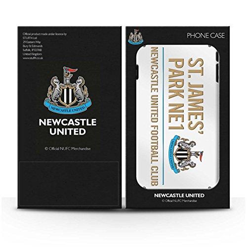 Offiziell Newcastle United FC Hülle / Glanz Harten Stoßfest Case für Apple iPhone 6 / Pack 6pcs Muster / St James Park Zeichen Kollektion Weiß/Gold