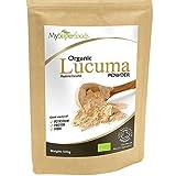 Polvo Orgánico De Lúcuma (500g) / MySuperFoods / Fruto proveniente de Perú con un dulce sabor natural / Alto contenido de proteína, calcio y fosforo / certificado como producto orgánico por el Soil Association.