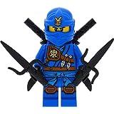 LEGO Ninjago Minifigur Jay Knee Pads aus Set 70749 incl. 4 GALAXYARMS Schwertern