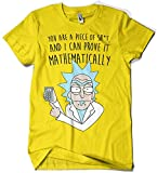 Camisetas La Colmena 1164-Camiseta Rick and Morty Mathematically (Legendary P,) Amarilla S