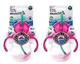 Munchkin Baby 2Pack Tipp & Sip Stroh Tassen Pink Arbeitshemd 6Monate +