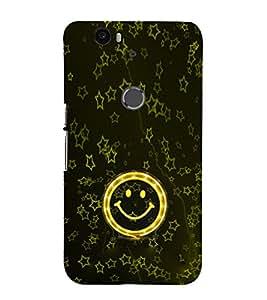 EPICCASE Golden Smiley Mobile Back Case Cover For Huawei Nexus 6P (Designer Case)