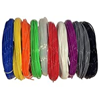 20M Rainbow Samples Pack of 3D Printer Filament - 10 Colours / ABS / 1.75mm
