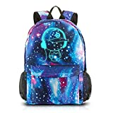 Galaxy School Backpack,Cool Unisex Canvas Backpack Anime Luminous Backpack Daypack Shoulder School Bag