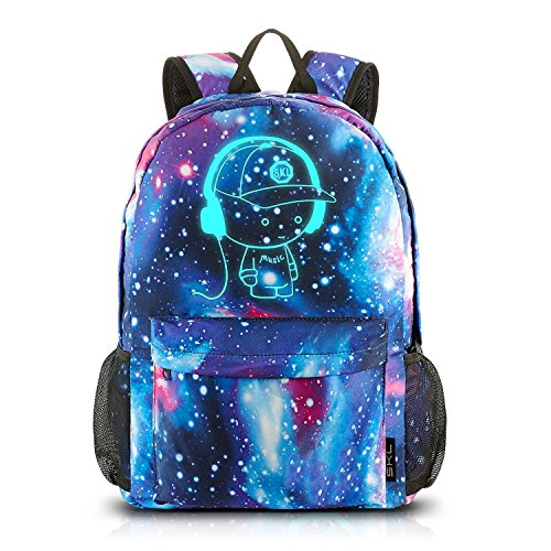 SKL School Backpack Unisex Canvas Anime Luminous Backpack Daypack Shoulder School  Bag Laptop Bag 39577415bc