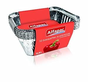 Alfapac - 8349 - Barquette Aluminium - Plat - 10 x 0,5 L - Lot de 3