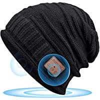 Cappello Bluetooth 5.0 Regali Natale Donna - Musica Berretto Idee Regalo Uomo & Donna Economici, Cappello Bluetooth con Altoparlanti Stereo HD e Cuffie Wireless Carta Regalo Natale