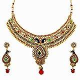 Reeva Fashion Jewellery Gold Alloy Necklace Set for Women - RNZ06N2TKK