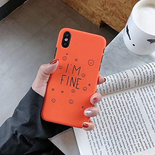 WRQLRR Hand yhülle Retro Farbe orange Matcha grün Brief Paar Fall Deckung X XS Max XR 7 6 6s 8 Plus Mode Fällen, blau, für iPhone 6s Plus