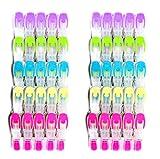 SOHFA Wäscheklammern 50er Set - Klammern aus stabilem Kunststoff und Softgrip - für Wäscheleine,Wäscheständer und Wäschespinne