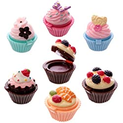 Subito disponibile 6 PEZZI Lipgloss lucidalabbra a forma di dolcetto cupcake torta colorata