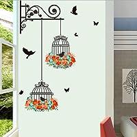 Jaula Pintura decorativa Pegatinas de pared 70*25cm por ASHOP