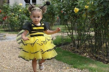 Mädchen Kleinkinder Bumble Bee Kostüm 3-5 (Für Bee Bumble Kleinkind Kostüme)