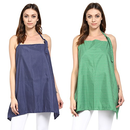 Wobbly Walk Nursing Cover - Pack of 2 (Blue/Green)