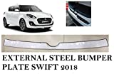 #7: VAIBN- Superior Quality Stainless Steel Rear Bumper Foot Plate Maruti Suzuki Swift 2018