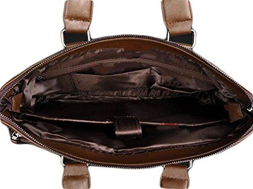 Borsa Cartella Di Affari Bag Man Del Computer Casuale Degli Uomini Brown2