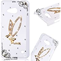 Microsoft Lumia 550 Cover, SMARTLEGEND Ultra Sottile Trasparente Rigida Glitter Strass Custodia, Diamante Bling Duro Hard Clear Case Ultra Protettiva Shock Assorbimento Caso per Ragazza e Donna - Angel Girl