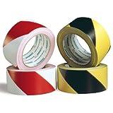 PVC Warnband Warnklebeband gelb/schwarz 66m x 50mm