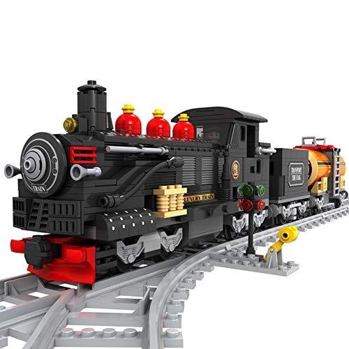 Lulu 586Pcs Série De Train Assemblage De Blocs en Plastique Jouets Éducatifs DIY Insérer Cadeau Jouet Convient Aux Enfants De Plus De 6 Ans