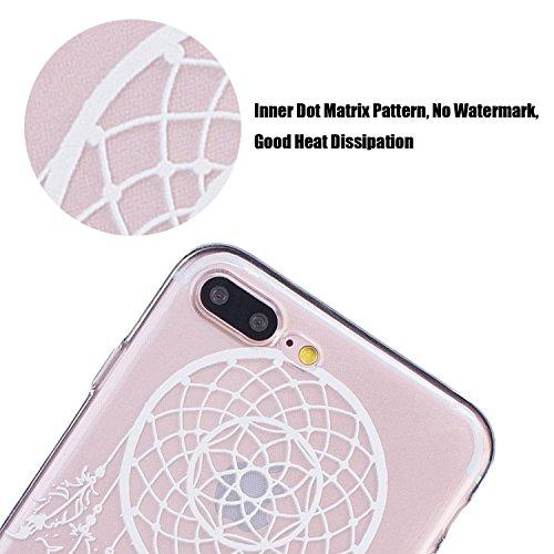 tinxi®Höhequalität Schutzhülle für Apple iPhone 7 Plus 5,5 Zoll Hülle Rutschfest Shock Proof Rück Schale Cover Case Schutz aus PC RückSchale mit silikon Rand sowie Innenschale Schwarz(sofort lieferbar Schlüssel Campanula