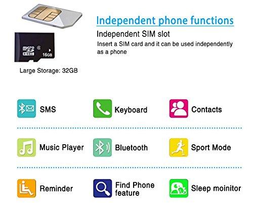 Polso Digitale Smartwatch Orologio Bluetooth Touchscreen Fotocamerafunzione Da monitoring SleepPedometroRegistratoreSvegliaFotografia kOZPiuwXTl