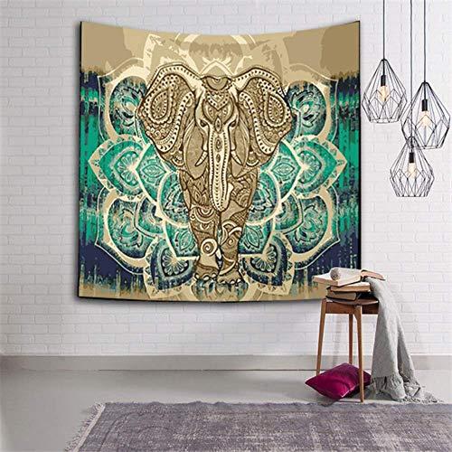 ayuxin Tapiz de Elefante Indio Color Impreso Decoración para el hogar Manta de Pared Tapiz de Mandala religioso Alfombra de Pared Boho