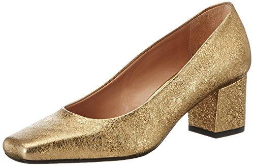 Oxitaly Damen Adele 200 Pumps Gold (Oro)
