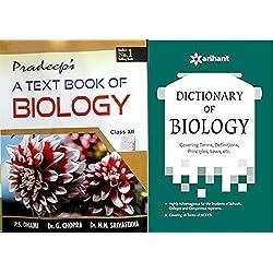 COMBO SET 2 BOOKS PRADEEP A TEXT BOOK OF BIOLOGY CLASS 12 WITH DICTIONAY OF BIOLOGY CLASS 12 EXAM 2018-19