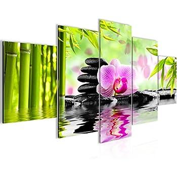 bilder orchidee feng shui wandbild vlies leinwand bild xxl format wandbilder wohnzimmer. Black Bedroom Furniture Sets. Home Design Ideas