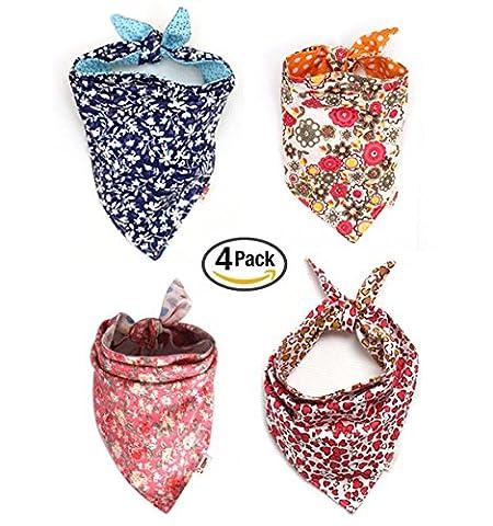 Unihubys Lot de 4/Ensemble de chien Motif coloré écharpes Accessoires