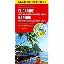 Caraïbes, Honduras, Nicaragua, Costa Rica, Panama 1 : 2,5 Mio