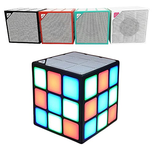 efanr Rubik 's Cube Wireless Lautsprecher tragbar outdoor Mini LED Magic Bluetooth Audio Smart Lautsprecher für Handy Tablet PC Auto, Support TF-Karte spielen Visor Clip Light