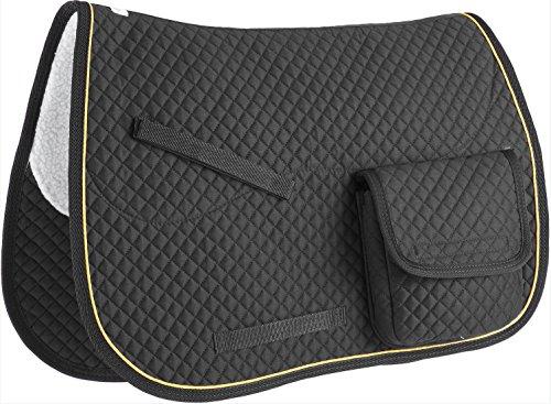 Allzweck-taschen (Derby Originals Allzweck-Schabracke mit Klettverschluss-Taschen, Unisex-Erwachsene, 60-6043-BK, schwarz, 26.5