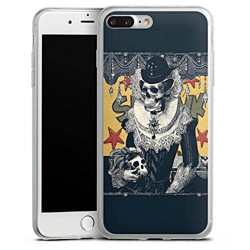 Apple iPhone 8 Plus Slim Case Silikon Hülle Schutzhülle Totenkopf Schädel Skull Silikon Slim Case transparent