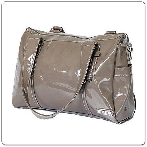 Vanchi NU - Borsa di pelle Soho, colore: grigio talpa