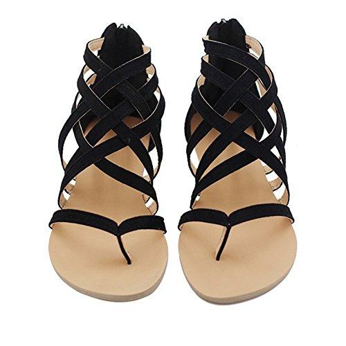 Cheyuan infradito sandali donna - moda estiva donne fasciatura boemia tempo libero signora sandali donna da estate/piatti/modello con infradito