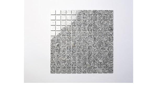 1 Tafel Granit Mosaik G603 grau wei/ß mix 2,3x2,3x0,8cm MOSAKO Fliesen Mosaik
