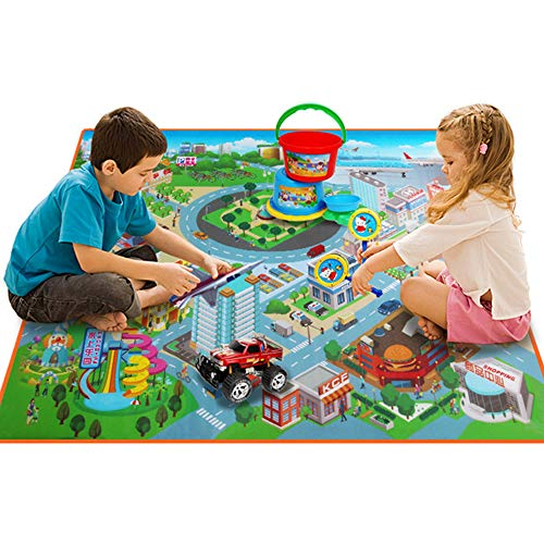 CAR SHUN Kids City Road Carpets Router Map, Crawling Pad, Baby Toys Teppiche Wasserdichte Faltklettern Matten, Baby Play Mat