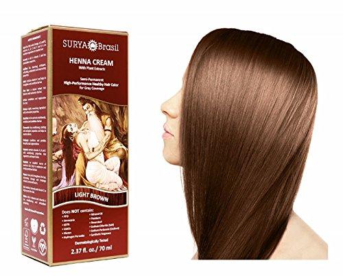 SURYA Brasil - Henna Haarfarbe Creme, hellbraun, 1x70ml