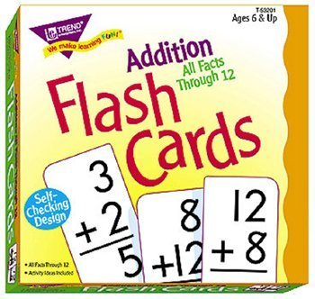 Addition 0-12 (all facts) Flash Cards by Trend Enterprises TOY (English Manual)