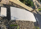 Asien Lifestyle Puente de jardín de China (190 cm), Piedra de Granito, decoración de jardín asiática