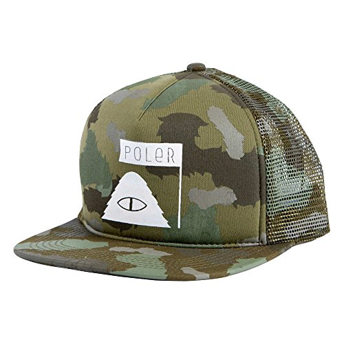 POLER Cap Summit Mesh Trucker Kappe, Furry Green Camo, One Size (Flex Camo Hut Fit)