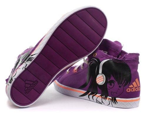Adidas vulcteen Mid XJ, da bambino Powvio/Black1/Runwhi