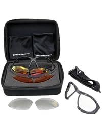 Ultrasport 330900000041, Lunettes de sport multifonction avec verres en plastique interchangeables