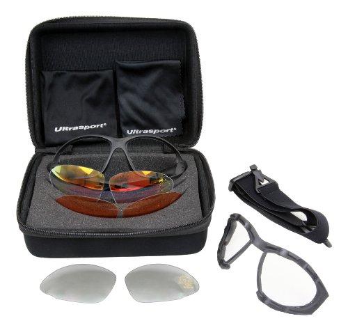 Ultrasport - Set de gafas deportivas con 3 tipos de lentes