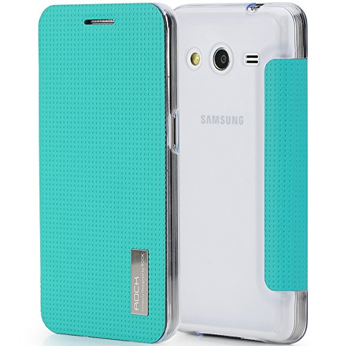 ROCK SAMSUNG GALAXY CORE 2 SIDE FLIP CASE - BLUE