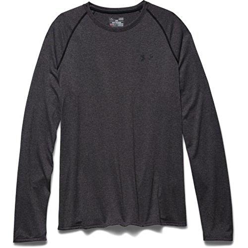 Under Armour Herren Tech Long Sleeve T-Shirt, Herren, Carbon Heather/Black, 3X-Large (L/s Under Shirt Armour)